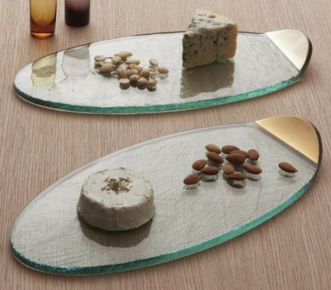 "Annieglass  Mod 15 1/4 x 7 1/4"" cheese board $126.00"