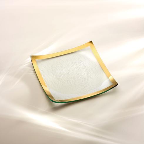 "Annieglass  Roman Antique 10 x 10"" square plate $111.00"