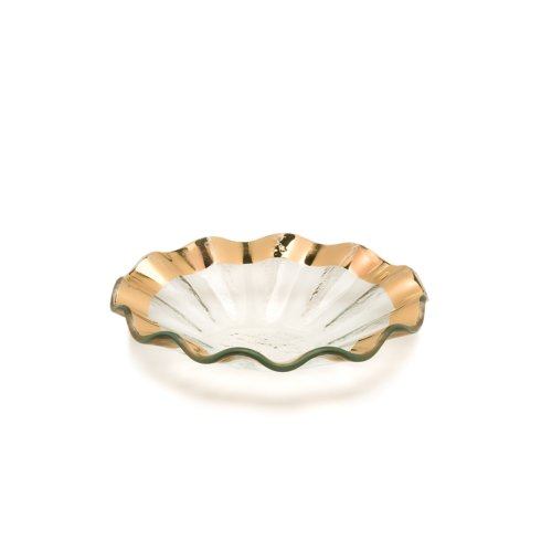 "Annieglass  Ruffle 7"" bowl $67.00"
