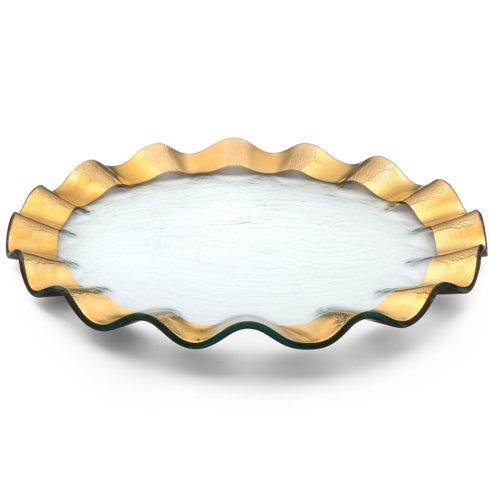 """Annieglass  Ruffle 13"""" buffet plate $109.00"""