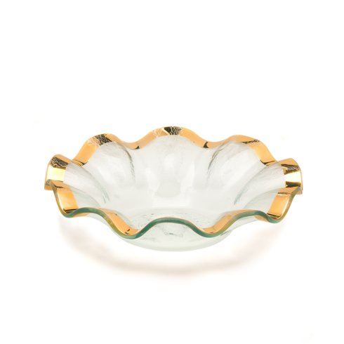 "Annieglass  Ruffle 10"" soup bowl $92.00"