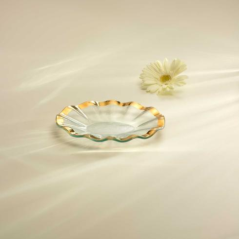 "Annieglass  Ruffle 8 1/2 x 6 1/2"" small oval tray $76.00"
