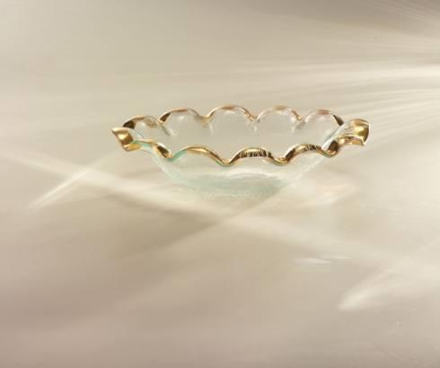 Annieglass  Ruffle Oval serving bowl Gold $134.00