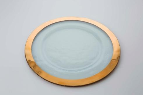 "Annieglass  Roman Antique 13 1/2"" service plate $105.00"