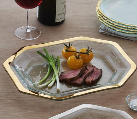 Annieglass  Roman Antique Steak Platter $179.00