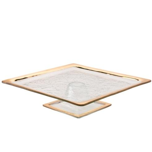 "Annieglass  Roman Antique 12 1/2  x 12 1/2"" square cake stand $263.00"