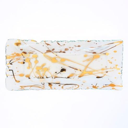 "Annieglass  Jaxson 13 ¼ x 5 ¾"" appetizer tray  $92.00"