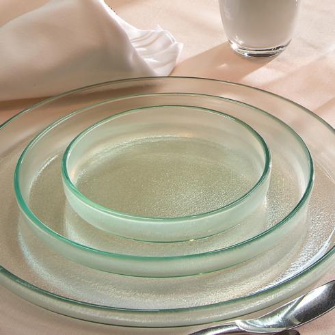"""$63.00 9¼"""" medium round plate - Mist"""