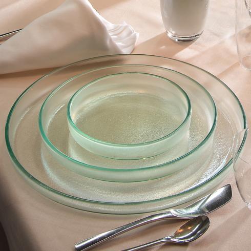 "$84.00 12 1/4"" large round plate - mist"