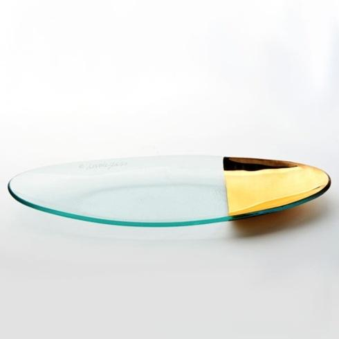 "Annieglass  Mod 6 1/4 x 16 1/2"" medium oval server $147.00"