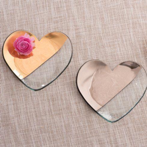 """Annieglass  Mod 7"""" heart plate $92.00"""