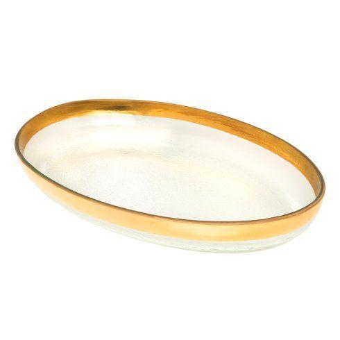 "Annieglass  Mod 18 x 11 1/2"" large oval platter $189.00"
