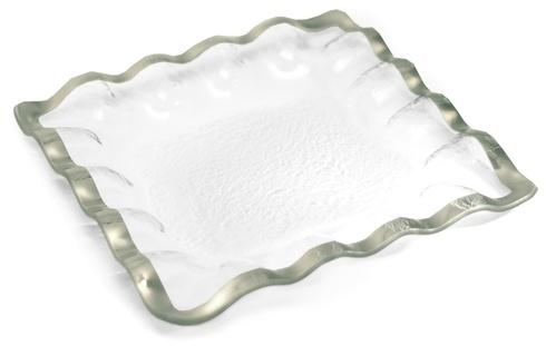 "Annieglass  Ruffle 11 1/2"" Square Server $164.00"