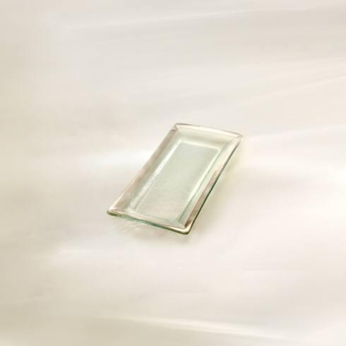"Annieglass  Roman Antique 13 1/2 x 6"" appetizer tray $92.00"
