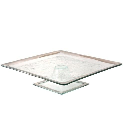 Annieglass  Roman Antique Square Cake Plate $263.00