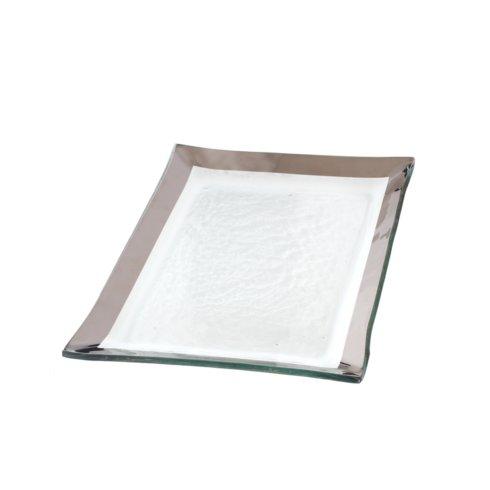 "Annieglass  Roman Antique 12 x 8"" vanity tray $137.00"