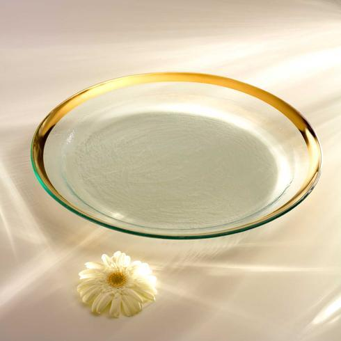 "Annieglass  Roman Antique 17"" round pasta bowl $193.00"
