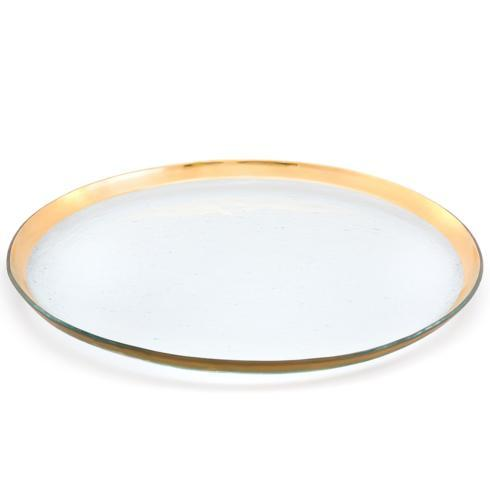"Annieglass  Roman Antique 19 1/2"" round party platter $294.00"