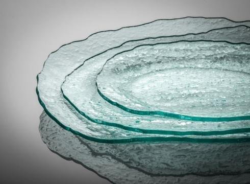 Annieglass  Salt 16 x 11 1/4 medium oval tray $80.00