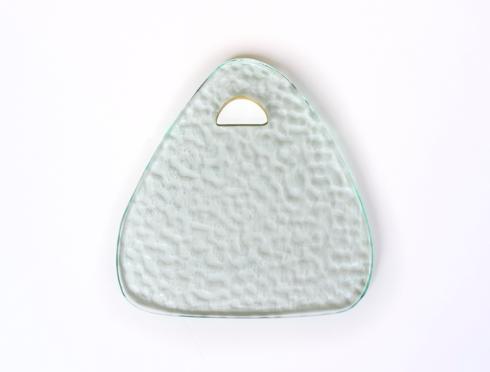 """$74.00 9x8"""" triangular trivet-Tear Drop"""