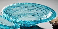 "Annieglass  Ultramarine 16 1/2"" large rimmed serving bowl $172.00"