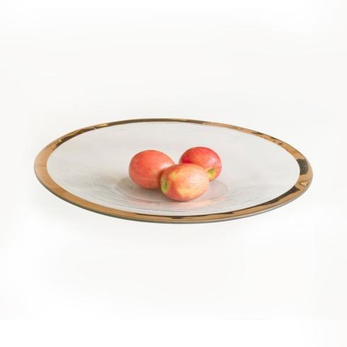 """Annieglass  Roman Antique 17"""" celebration bowl $294.00"""