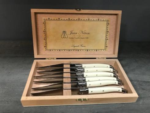 $85.00 Laquiole Set of 6 Ivory Steak Knives