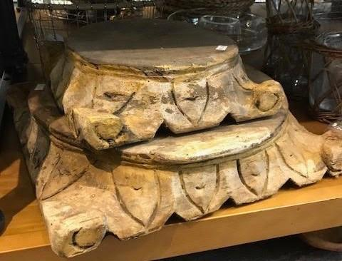 $54.00 Carved Pillar Base Small