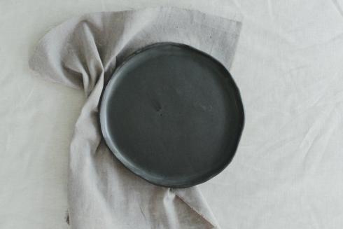$38.00 Kinfolk Salad Plate-Gunmetal
