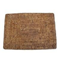 $28.00 Rattan Rectangle Placemat