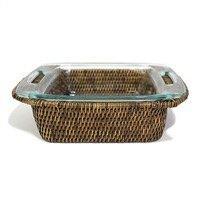 "$78.00 Square 8"" Pyrex Rattan Bakeware Tray"