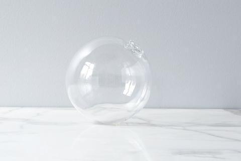 """$26.00 Sphere Vase 5"""" Clear"""