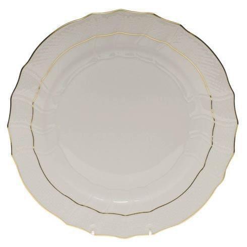 """$80.00 Golden Edge Dinner Plate with Script """"B"""" Monogram"""
