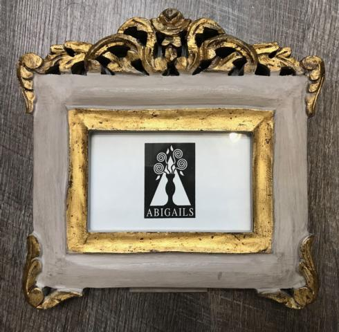 $58.00 Vendome Frame-Gray and Gold 4x6