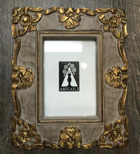 $68.00 Vendome Frame-Gray and Gold 5X7