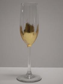 $24.00 Gold Brushed Champagne Glass