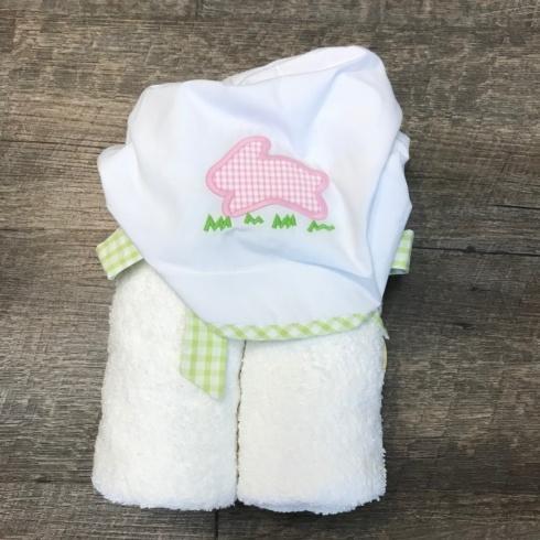 $44.00 Hooded Towel Pink Bunny