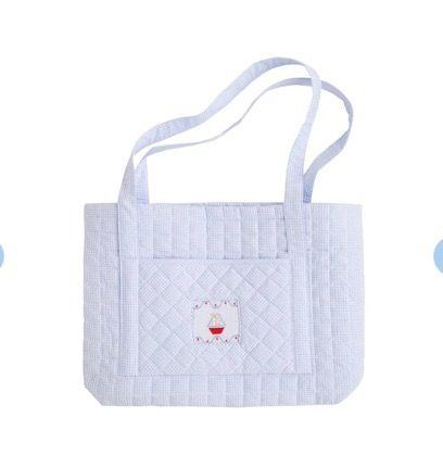 $58.00 Quilted Tote Sailboat