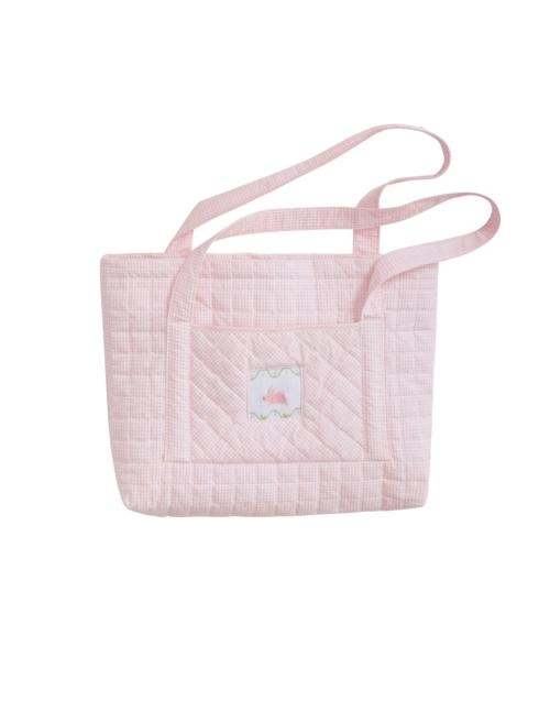 $58.00 Quilted Luggage Tote Bunny