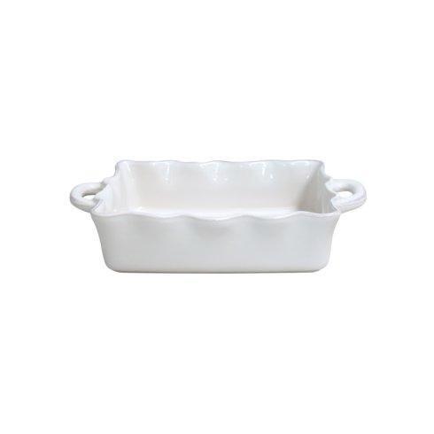 $64.00 Cook and Host Cream Ruffle Baker-Medium