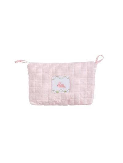 $22.00 Quilted Luggage Cosmetic Bag Bunny