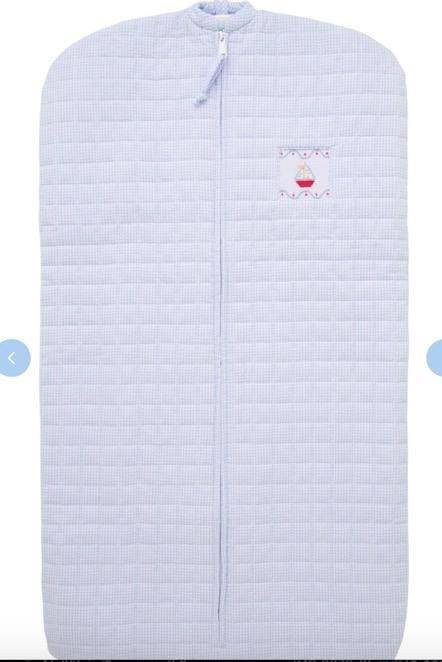 $68.00 Quilted Garment Bag Sailboat