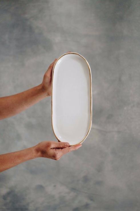 $78.00 Gold Brushed Platter