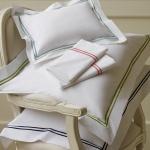 $35.00 Grande Hotel Collection-Boudoir Sham, White/Navy