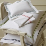 $35.00 Grande Hotel Collection-Boudoir Sham, White/Navy