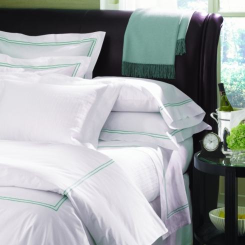 $265.00 Grande Hotel Collection-King Duvet, White/Navy