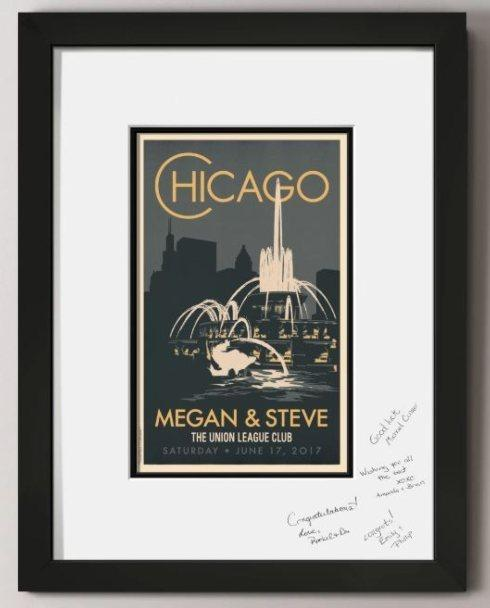 Chicago Buckingham Fountain Guest Signature Frame