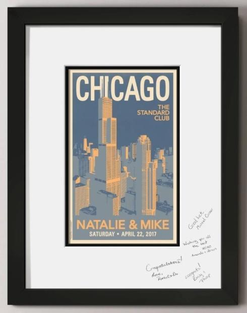 Downtown Chicago Guest Signature Frame