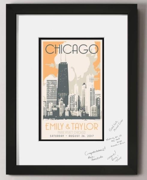 Chicago Gold Coast Guest Signature Frame