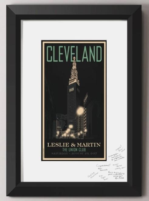 Cleveland Terminal Tower Guest Signature Frame